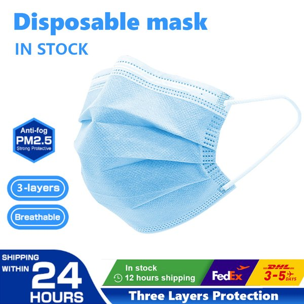 best selling In Stock! Disposable Masks, Breathable Disposable Designer Face mask, 3 Layer Protective Mask, Non Woven Mouth Masks, Free DHL