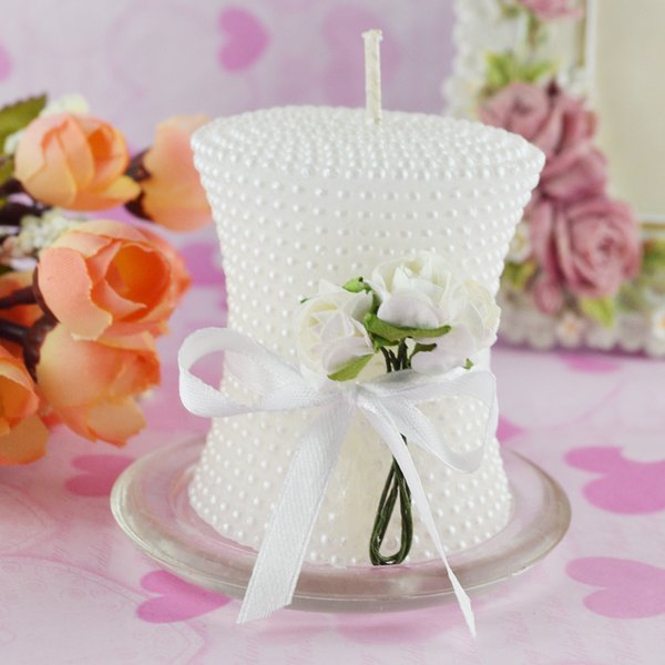 WHolesale creative smokeless art candle pearl pillar candle wedding Party Valentine's Day decoration wedding favor FEIS cake topper