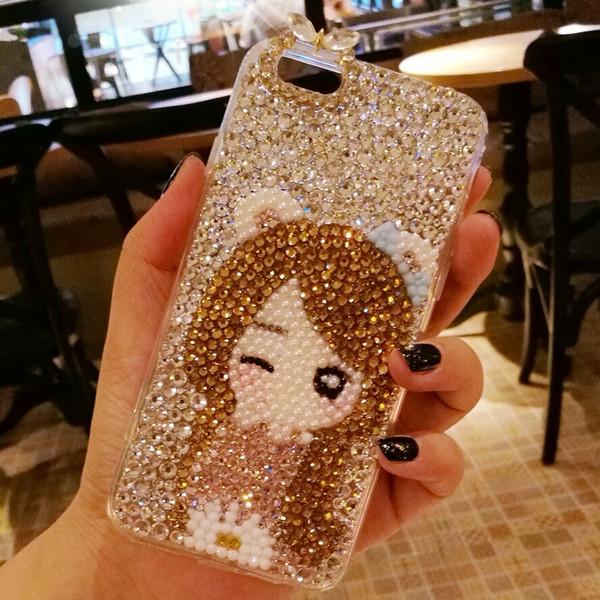 Découvrez section spéciale dernier Housse Téléphone Portable Luxe Glitter Diamond Original Magnétique Flip  Portefeuille Titulaire De La Carte Antichoc En Cuir Téléphone Case Cover  Shell ...