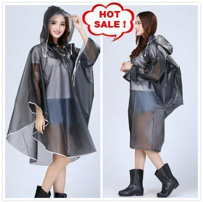 Women Transparent Raincoat Hooded Impermeable Poncho Plastic capa de chuva Bicycle Rainwear Female Colorful EVA casaco de chuva