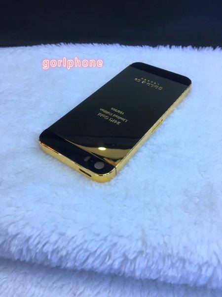 Für iphone5 / 5S und für iphoneSE 24k vergoldetes Originalgehäuse aus echtem Gold mit GOLDCO DUBAI EDITION Ersatzrückseite