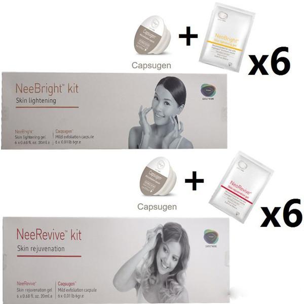 Prodotti di consumo esfolianti per macchine facciali Neebright Neerevive Capsugen Kit di sbiancamento e anti-invecchiamento Nee Revive Spedizione gratuita
