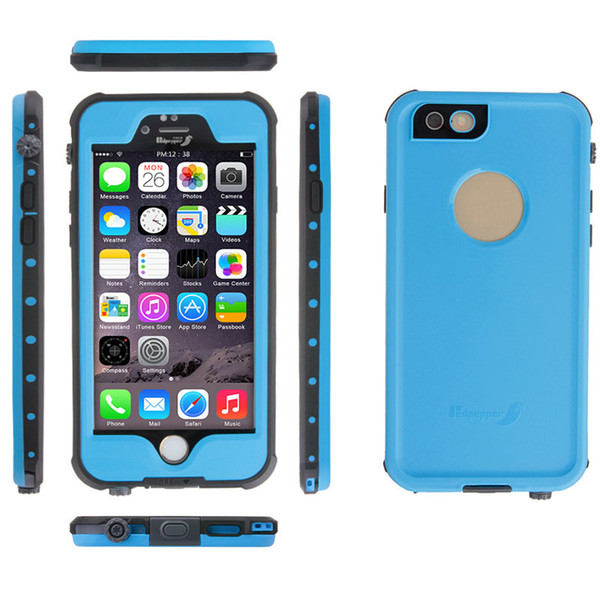 New Military Grade Shockproof Cover For Iphone 6 iPhone6s iPhone6s 4.7 5.5 Iphone 6 Plus Waterproof Case Cover Fre Built-in Screen Protector