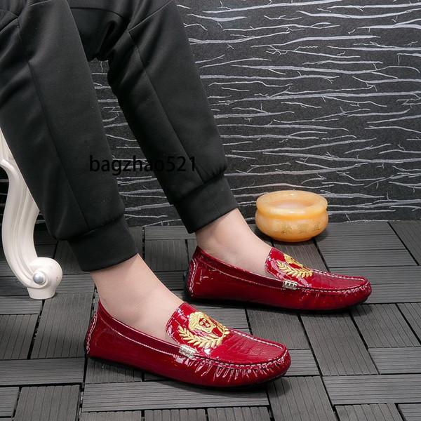 Mens Designer Shoes Classic Shoes Mode Light Peas chaussures pour hommes Semelle en caoutchouc automne Respirant classique de haute qualité vendent bien