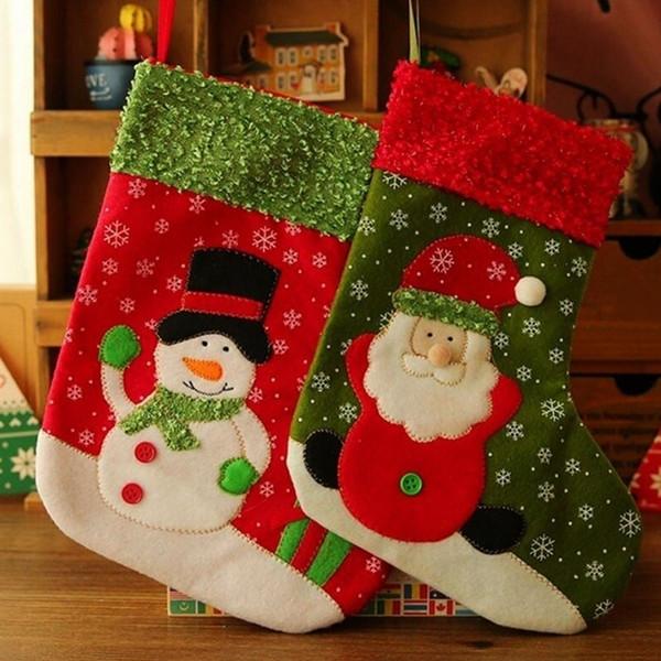 Singel mignon petit bas de Noël Santa Claus bonhomme de neige cadeau sac de bonbons