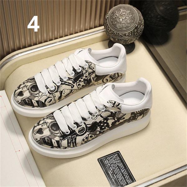 con entrenadores caja de zapatos de cuero de diseño en blanco para hombre de las zapatillas de deporte de la plataforma zapatos de las mujeres ocasionales planos de alta calidad zapatos deisgner B100533W