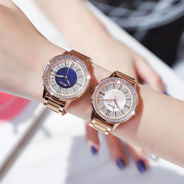 Mesdames Diamant Géométrique Polygone Cadran Magnétique Ceinture Watchh Nouveau Style Élégant Chic Rêve Magique Causale Montre De Luxe
