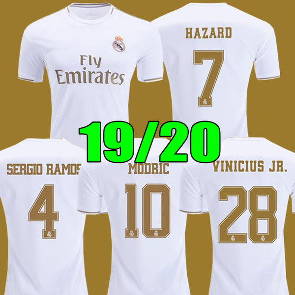 camiseta de fútbol real Madrid 2019 HAZARD JOVIC MILITAO soccer jerseys 19 20 VINICIUS ASENSIO football shirt kids camisa de futebol