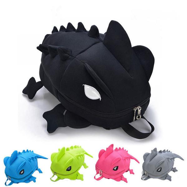 good quality Large New Children 3d Cartoon Animal Primary School Backpacks Kids Girls Creative Monster Dinosaur School Bags For Boys