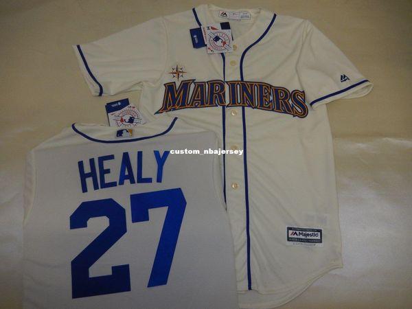 Cheap custom RYON HEALY Sewn Baseball JERSEY CREME New Stitched Customize any name number MEN WOMEN BASEBALL JERSEY XS-5XL