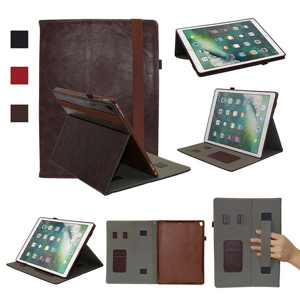 Classic Half Genuine Leather Tablet Cover Case for iPad Pro 12.9 ipad 5 6 Shell cover case Shockproof PU Case