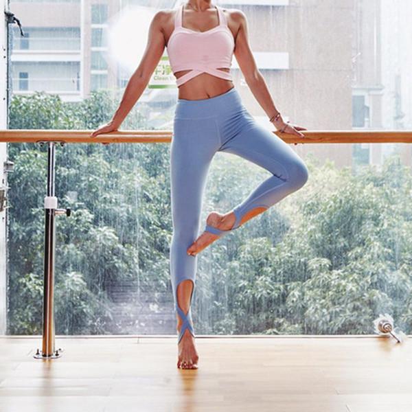 Bandage Women Running Training Dancing Pants Fitness Leggings Sport Wear Gym Workout Leggins Ladies Jeggings Aerobic Clothing