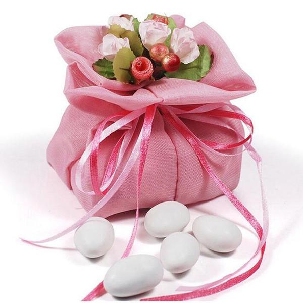 Düğün Iyilik Ve Hediye Çantası Bez Iplik Çanta Şeker Tatlı Çikolata Sevgililer Günü İpli Doğum Günü Partisi Dekorasyon Wrap Za3289
