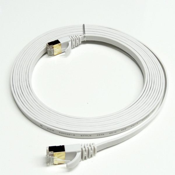 top popular Freeshipping 50FT 15M CAT7 RJ45 Patch Ethernet LAN Network Cable For Router Switch gold plated cat7 network cable RJ45 8P8C GOLD PLATED PLUG 2021