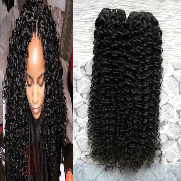 Malaysian Kinky Curly Hair Extensions 2pcs 100% Human Hair Weave Bundles 8-26 Inch Non-Remy Natural Color Hair Extensions Free Shipping