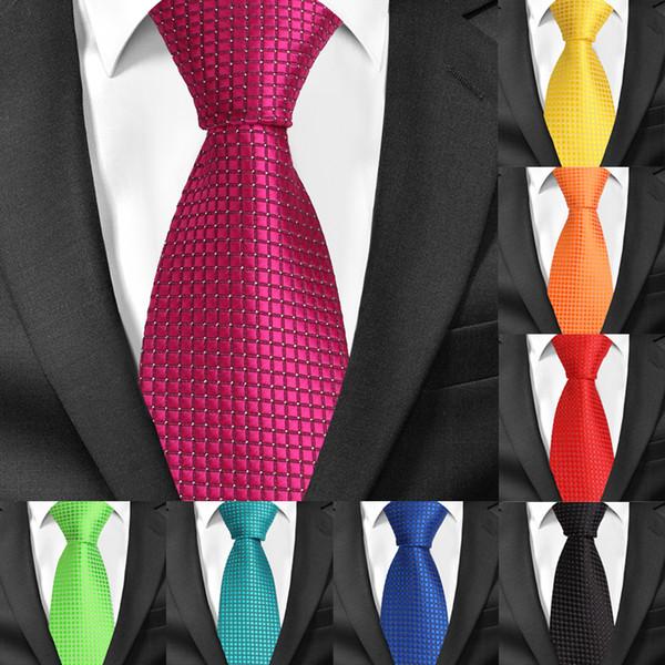 Clássico Xadrez Gravatas Para Homens Casuais Ternos Tie Gravatas Stripe Mens Gravatas Azuis Para O Casamento de Negócios 8 cm de Larg ...