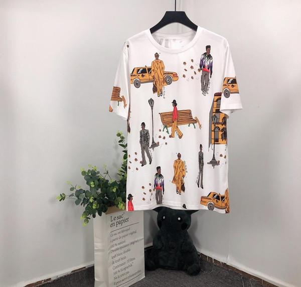 pintada hombres de coche de verano personajes interesantes algodón de manga corta camiseta de los hombres de moda de alta calidad de la nueva del diseño de la venta caliente camiseta de los hombres Top Tees