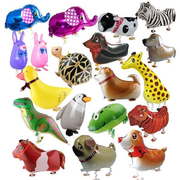 top popular Walking Pet Animal Helium Aluminum Foil Balloon Automatic Sealing Kids Baloon Toys Gift For Christmas Wedding Birthday Party Supplies B11 2020