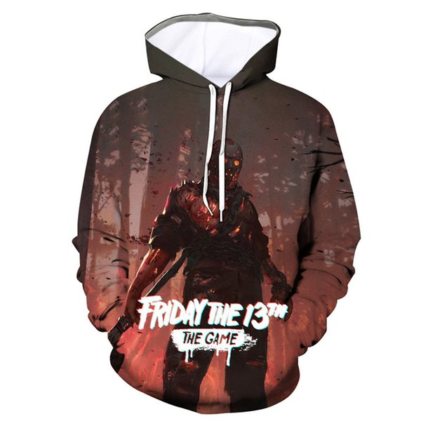 2019 Casual Street Men Game Of Hoodies Plus Size Friday The 13th Hoodies Sweatshirts 3D Funny Print Video Game Gothic