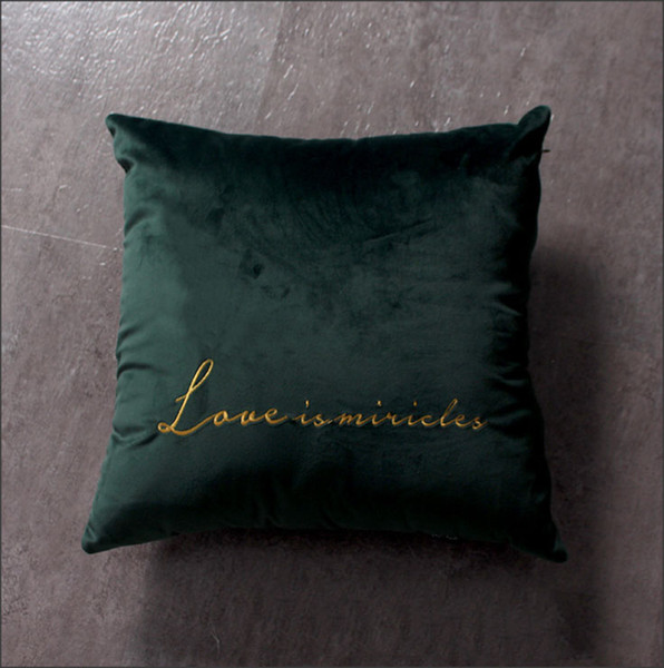 Velvet Soft Decorative Throws Pillows Cushions Covers Luxury Square Pillowcase For Sofa Bed Car Home 45x45