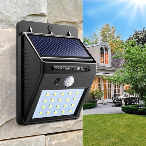 Solar Power LED Solarleuchte Außenwand LED Solarlampe Mit PIR Bewegungsmelder Nacht Sicherheit Lampe Street Yard Path Gartenlampe