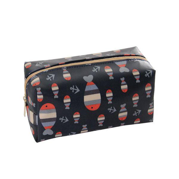 1 Pc Cartoon Cosmetic Bag Pattern Women Make Up Bag Travel Toiletry