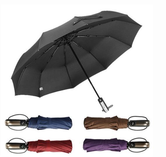New Full Automatic Umbrella Rain Women Men 3Folding Light and Durable 386g 8K Strong Umbrellas Kids Rainy Sunny Wholesale Price