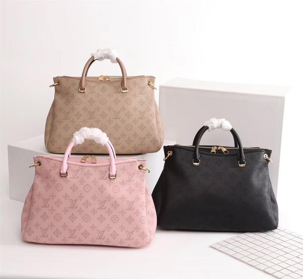 Borsa multifunzionale di moda in pelle da donna, imitazione, nuova borsa firmata, tracolla, stampa di moda, grande capacità, M40906