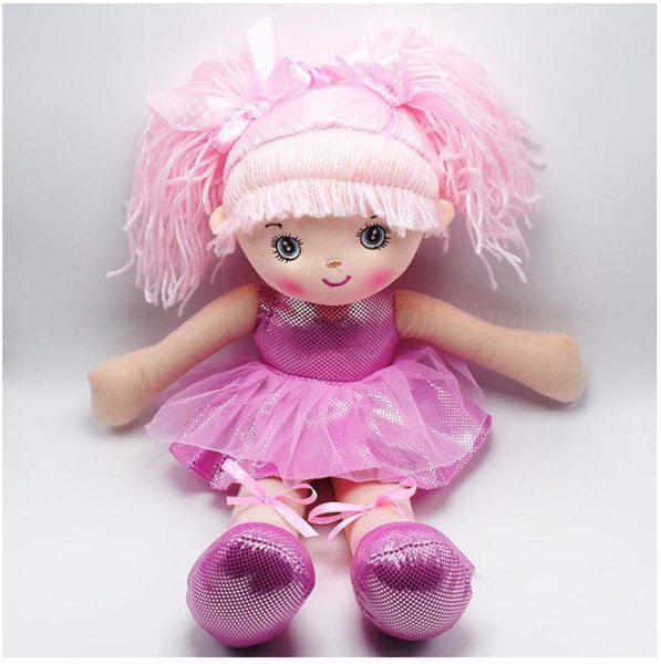 New 3 Colors Cute Girls Ballet Dancing Dolls 40cm Dancing Girl Style Stuffed Soft Plush Figures Rag Dolls Children Christmas Birthday Gifts