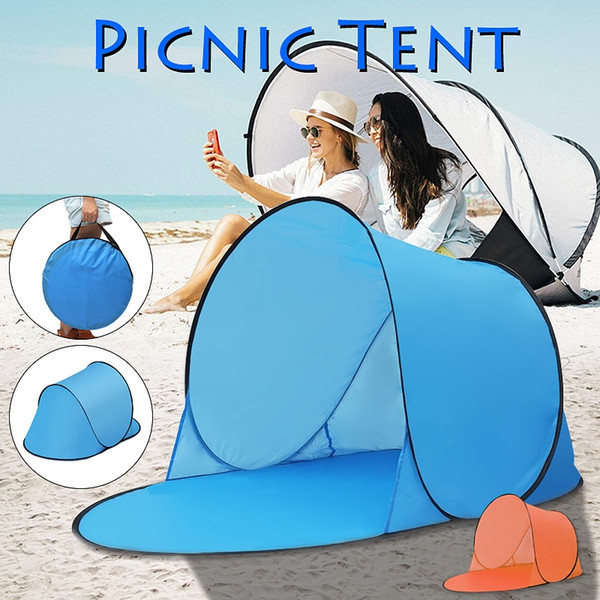Portable Outdoor Waterproof Camping Beach Picnic Tent Pop Up Open Camping Tent Fishing Hiking Automatic Instant Travel Tent