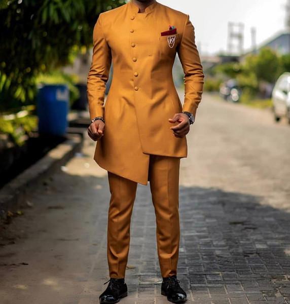 Diseño de traje de novia de novio de trajes de diseño personalizado de los últimos hombres personalizados 2 piezas (chaqueta + pantalones) CY016
