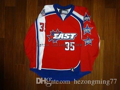 Бесплатная доставка мужская 35 хенрик лундквист восток все звезды игры хоккей джерси вышивка сшитые настроить любое число и имя