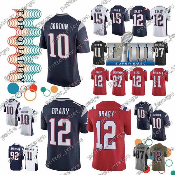 newest 8f2e8 a17d5 2019 Cheap Sales New Patriot 12 Tom Brady Jersey 11 Julian Edelman 10 Josh  Gordon 15 Chris Hogan 87 Rob Gronkowsk Jersey Top From Ron_jerseys, $23.5 |  ...