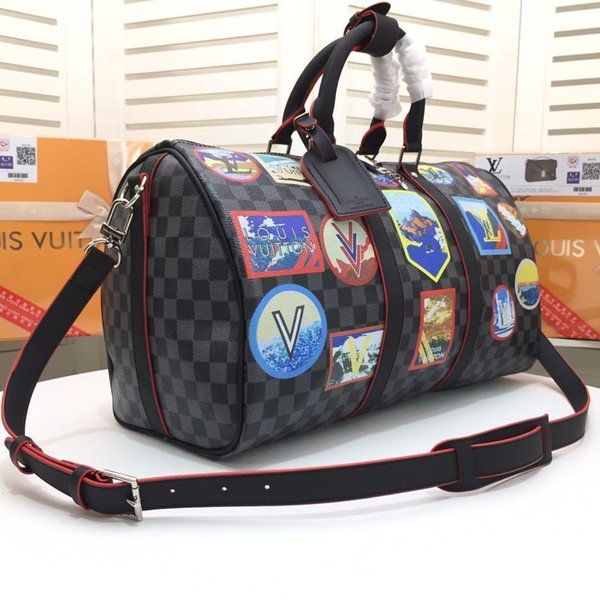 2019 Bolsos de moda de marca Casual Plaid Canvas Travel Bag Messenger Bag Bolsos Monederos de las mujeres de alta calidad bolsos para mujeres Abc-47