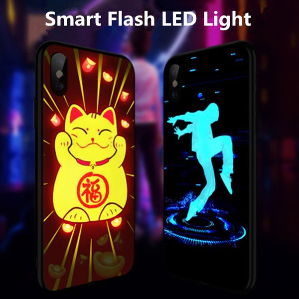 coque iphone xs max logo led