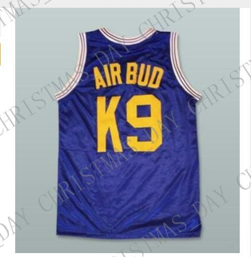 Cheap custom Air Bud K9 Blue Movie Basketball Jersey Stitched Customize any name number MEN WOMEN YOUTH BASKETBALL JERSEY