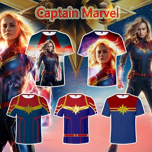 9 marcas de ropa de diseño Captain Marvel polo Comic LOGO Super Hero camiseta Captain America the Flash Marvel Movie Cosplay Camisetas