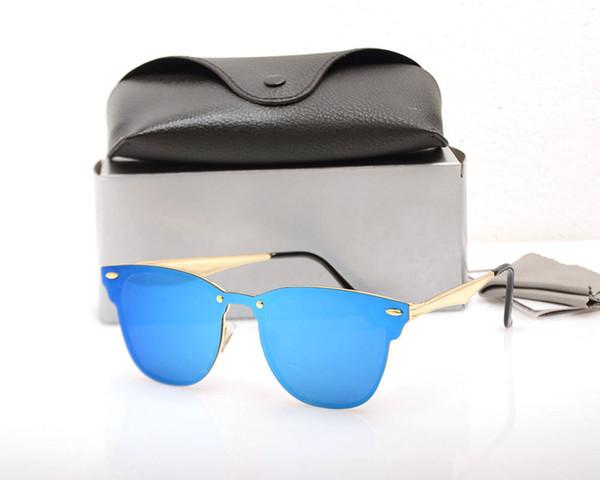 10 PCS Top qualité mens lunettes de soleil pour la mode féminine Vassl Marque Designer Or Cadre en Métal Rouge Coloré Lunettes de Soleil Lunettes avec étuis noirs