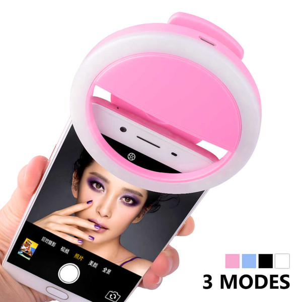 2018 New USB Charge Selfie Portable Flash Led Camera Phone Photography Ring Light Enhancing Photography For iPhone Smartphone