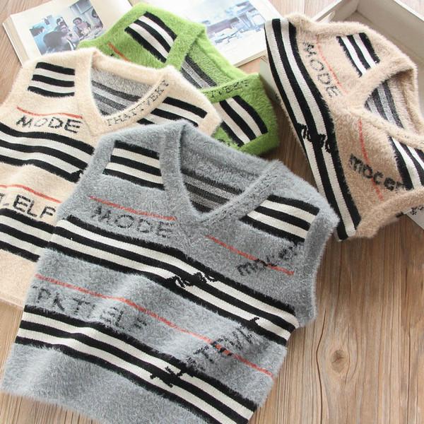 boys waistcoat fashion letter kids Vest kids designer clothes boys designer clothes new 2019 autumn winter kids waistcoats A7446