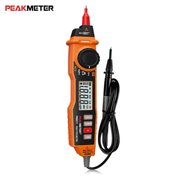 PEAKMETER MS8211 Multímetro digital tipo pluma NCV / AC Corriente de voltaje DC / Diodo / Continuidad