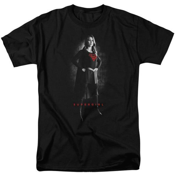 Maglietta adulta autorizzata di Supergirl Noir 2019 Maglietta stampata del collo rotondo del cotone 100% alla moda di marca a buon mercato all'ingrosso