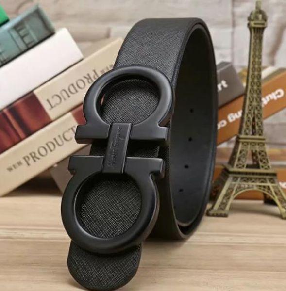 2019Big large buckle genuine leather belt with box designer belts men women high quality new mens belts luxury belt free shipping