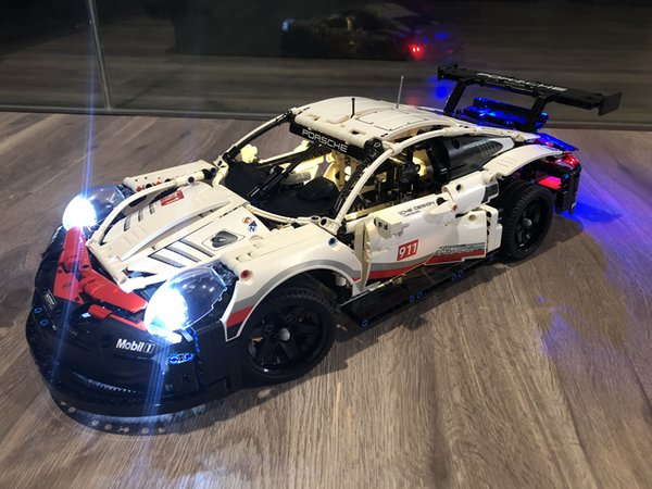 Porsche 911 RSR Set di luci a LED fai da te per IEGOset compatibile 42096 20097 technic MOC race Car Building Blocks Giocattoli Regali