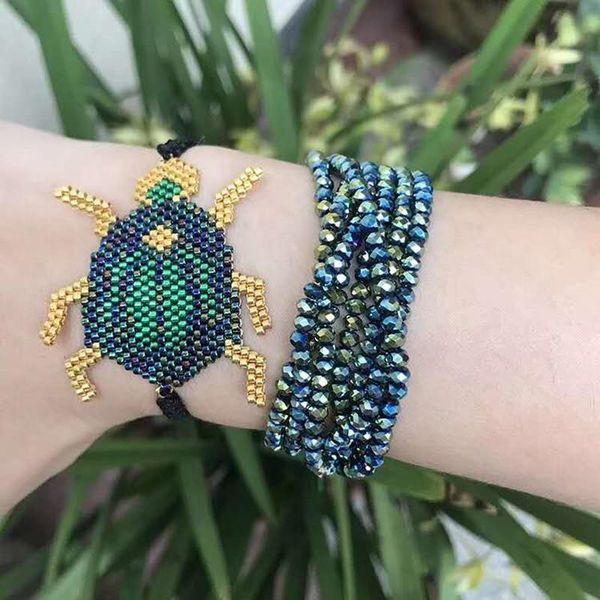 Go2boho Dropshipping Beetle Bracelet MIYUKI Beetle Bracelets Tassel Jewelry Delicate Beadwork Japan Seed Beads Women Her Gift