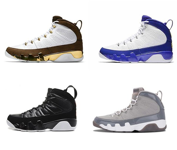 top popular NEW High Quality Basketball Shoes 9 Dream It Do It UNC Bred Space Jam Men 9s Tour Yellow PE Spirit Anthracite Sneakers With Box 2019