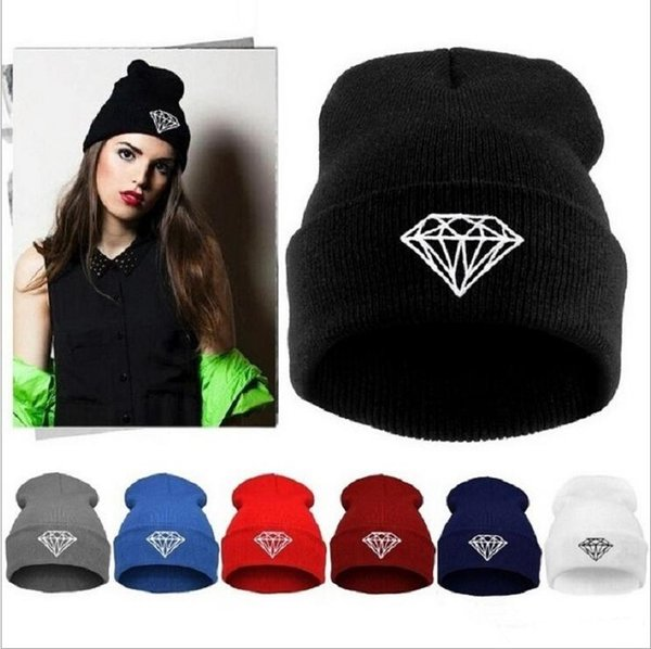 Hot Sale winter Hat Cap Beanie wool knitted men women Caps hats diamond embroidery Skullies warm Beanies Unisex free shipping MO46