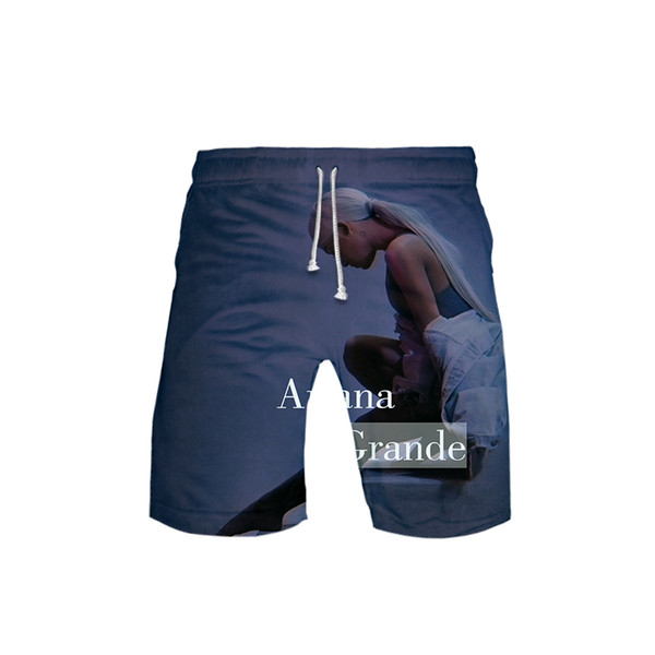 New Ariana Grande Board Shorts Trunks Summer New Quick Dry Beach Shorts Men Hip Hop Short Pants Beach Wear