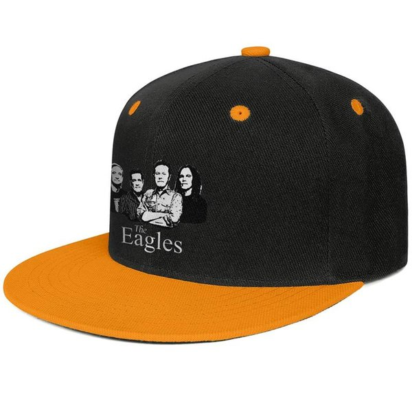 The eagles band Logo-1 Design Hip-Hop Caps Snapback Flatbrim Baseball Hats Sun Protection Adjustable