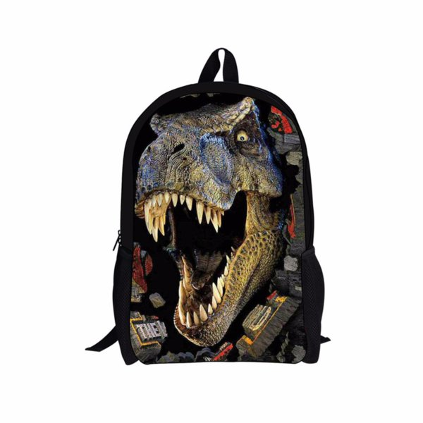 2019 Customized 3D Printed Dinosaur Children Student Bag Cute Tiger Puppy Satchel Kids Schoolbag for Boys Children Bookbag